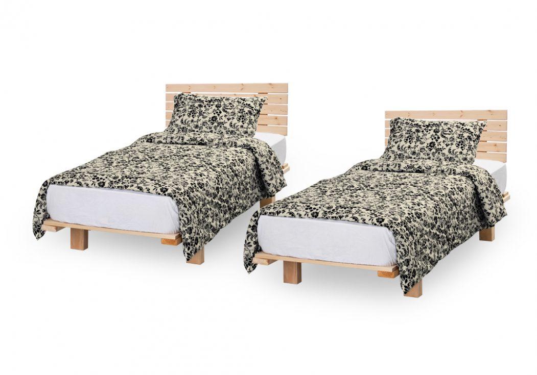 בסיס מיטה יהודית עם משענת גב